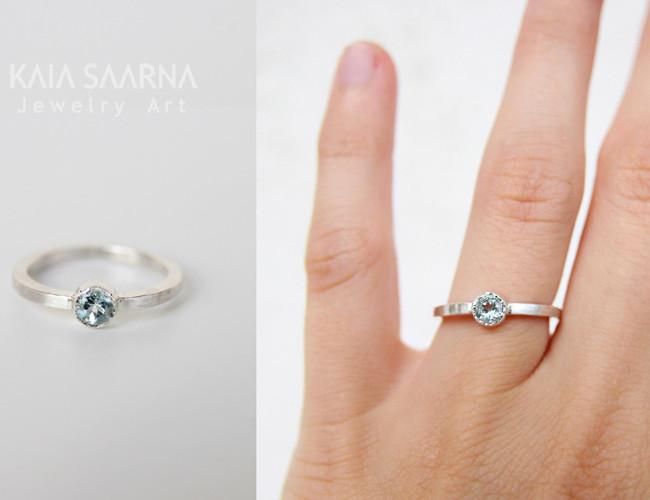 silver 925, aquamarine / hõbe 925, akvamariin