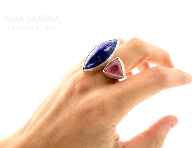 silver 925, lapiz lazuli, tourmaline / hõbe 925, lasuriit, turmaliin
