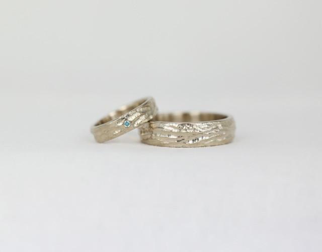 white gold 585, blue diamond / valge kuld 585, sinine teemant